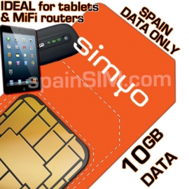 SIMYO (ORANGE) SPAIN 10GB DATA ONLY SIM.
