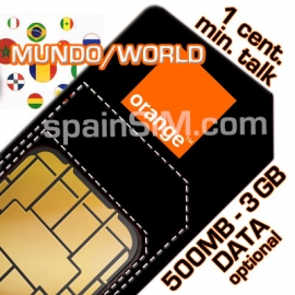Orange MUNDO Spain SIM Card