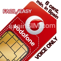 Vodafone FACIL Spain SIM Card