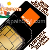 Orange HOLIDAYS EUROPE SIM Card