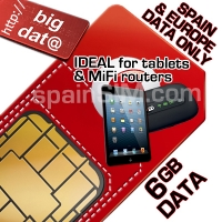 Vodafone EUROPE 6GB BIG DATA ONLY SIM.