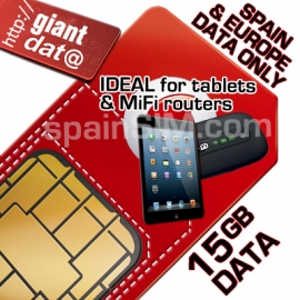 Vodafone EUROPE 15GB GIANT DATA ONLY SIM.