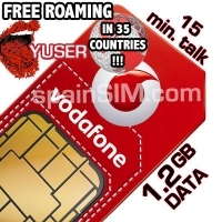 Vodafone YUSER Spain & Europe SIM Card