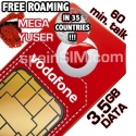 Vodafone MEGA YUSER Spain & Europe SIM Card