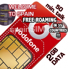 Vodafone WELCOME TO SPAIN & Europe SIM Card