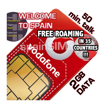 Vodafone Welcome to Spain SIM Card