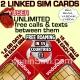 DUAL SET Vodafone YUSER Spain SIM Cards